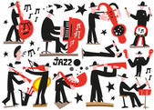 Jazz musicians — Stock Vector