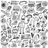Science - doodles set — Stock Vector