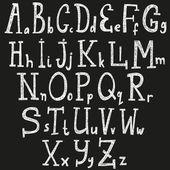 Alphabet, Font - vector illustration — Stock Vector