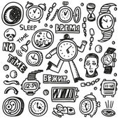 Time Doodles — Stock Vector