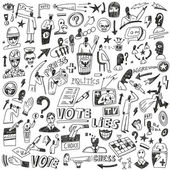 Politics - doodles set — Stock Vector