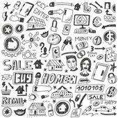 Att välja hem, salu - doodles — Stockvektor
