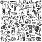 Rap doodles — Stock Vector