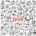 Постер, плакат: Hipsters doodles