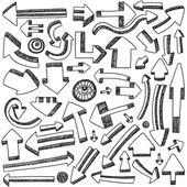 Arrows doodles — Stock Vector