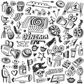 Kino čmáranice — Stock vektor