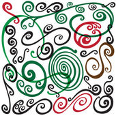 Swirls doodles — Vector de stock