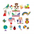 Colorful toys — Stock Vector #47218565
