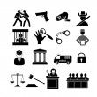 Law and justice icons — Stock Vector #47219207