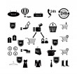 Shopping icons set — Stock Vector #47219249