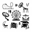 Amusement Park icons — Stock Vector #47219303