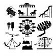 Amusement Park icons — Stock Vector #47219313