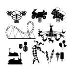 Amusement Park icons — Stock Vector #47219321