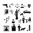 Police, law and justice icons — Stock Vector #47219331