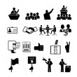 Politics, Voting and elections icons — Stock Vector #47219353