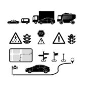 Transport and navigation icons set. — Wektor stockowy