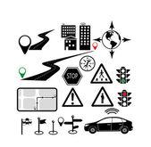 Navigační ikony — Stock vektor