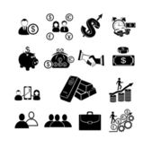 Finance & banking icons set. — Stock Vector