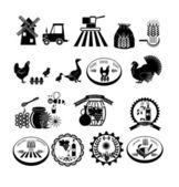 Iconos campo fijados. — Vector de stock