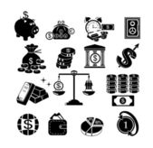 Banking, money icons set — Stock vektor