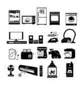 House appliance, icon set — Stock Vector