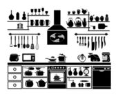 Kitchen Tool Silhouette — Stock Vector