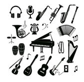 Musical instrument set — Stock Vector