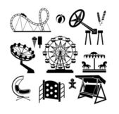 Amusement Park icons — Stock Vector