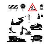 Repair of roads signs — Stock Vector