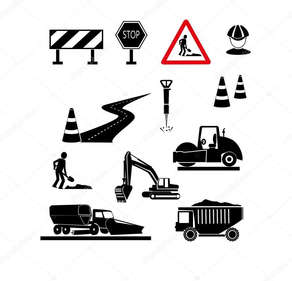 修复的道路标志 — 图库矢量图像08