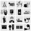 Electricity icons — Stock Vector #47431971