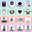 Fitness and sport icons — Stock Vector #47432065