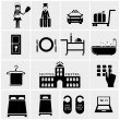 Hotel Icons — Stock Vector #47432273