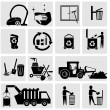 Cleaning Garbage icons — Stock Vector #47432693
