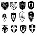 Heraldic symbols — Stock Vector