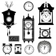 Clocks icon set — Vettoriale Stock