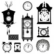 Clocks icon set — Vecteur