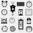 Clocks icon set — Stock vektor