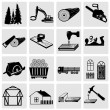 Woodworking and construction icons — Stock Vector #47433687
