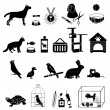 Pets icons — Stock Vector #47433695