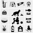 Pets icons — Stock Vector #47433703