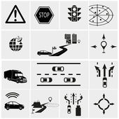 Road traffic icons — Stock Vector