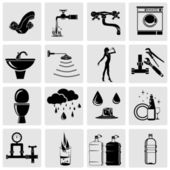 Water related icons set. — Stock Vector