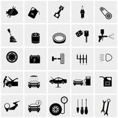 Car maintenance and repair icon set — Stock Vector