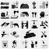 Construction equipment icons — Stock Vector