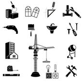 Tools and equipment for constructions — Stock Vector