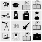 Vzdělání ikony — Stock vektor