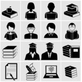 Higher education icons. — Stock Vector