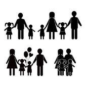 Family life icon set — Stock Vector