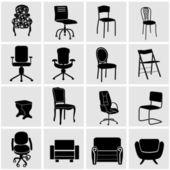мебель силуэты — Cтоковый вектор